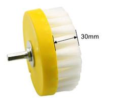 OD 110mm Weiße Bohrmaschine Bodenreinigungsbürste Elektrowerkzeug zum Entfernen von hartnäckigen Flecken auf Teppich Sofa Stein Keramikfliesen Reinigungswerkzeug von Fabrikanten