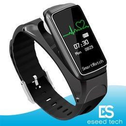 Wholesale Heart Rate Woman - B7 Smart Bracelet Bluetooth Sports Smart Watch Intelligent Detachable Music Heart Rate Monitor Pedometer for Android Ios man woman