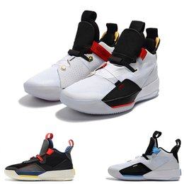 d7d782561dd9fe Designer Sneaker 33 33s Future of Flight Blackout ZOOM Basketball Shoes  White Metallic Gold Michigan PE 2019 casual shoe trainer AQ8830-100