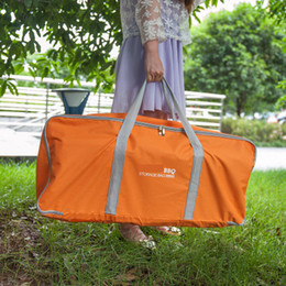 Wholesale Wholesale Bag Manufacturers - New Outdoor Traveling Manufacturer Orange BBQ Bags Waterproof Moisture-resistant Thickened Oxford Cloth Holidays Picnic Storage Bags