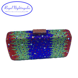 Wholesale evening clutch bags womens - Luxury Sparkle Crystal Box Clutch Evening Bags and Clutches for Womens Party Wedding Prom Evening Cocktail