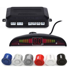 Wholesale car reverse parking sensor system - HLEST 1 Set Car Led Parking Sensor 5 Colors Parktronic Display 4 Sensors Reverse Assistance Radar Monitor Parking System