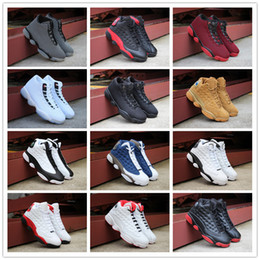 Wholesale cheap mens casual shoes sale - 2018 Top quality Jumpman 13 XIII New Bred Casual Sports Shoes for Cheap Sale Mens Women 13s Retro Designer Trainers Sneakers Size 36-46