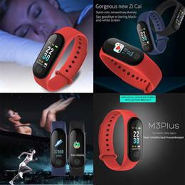 2019 bluetooth armbänder armbänder M3 Plus Smart Armband Herzfrequenz Blutdruck Telefon SMS Multi-Sport-Modus Wetter Automatische Helle Bildschirm Mi Band 3 Armbänder
