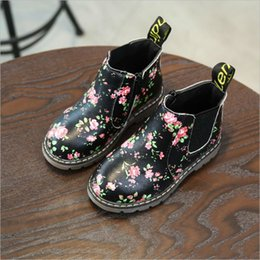 Wholesale Toddler Fashion Boots Brown - Kids Autumn Baby Boys Oxford Shoes For Children Dress Boots Girls Fashion Martin Boots Toddler PU Ieather Boots Black Brown Gray EU21-30