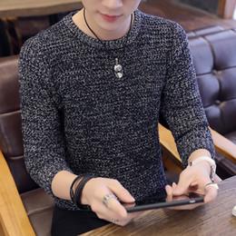 Desgaste de los grandes online-Casual O-cuello Hombres Invierno Suéter de Lana Sólido Argyle Big Boys Suéteres 2018 Invierno Delgado Grueso Hombres Knit Wear