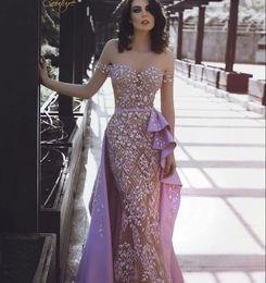 Robe de soirée robe longue manches courtes appliques sweetheart élastique satin tulle sirène belle moderne yousef aljasmi classique à la mode ? partir de fabricateur