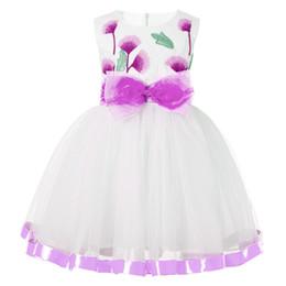 Canada Enfants Filles Princesse Robe Robes De Bal De Mariage De Fleur Filles Dress Robe De Fête Pour Les Filles D'été Enfants Vêtements Offre