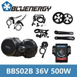 Wholesale 8fun Mid Drive - Free Tools 36V 500W Bafang 8fun BBS02B Mid Crank Drive Motor Kits APT LCD Display 850C Geared Motor Kit Eletric Bicycle ebike Kits