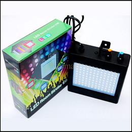 Wholesale Light Effect Flash - Mini Sound Control Auto 108 LED RGB Disco Party DJ Bar Light LED Stroboscope Music Show Projector Flash Stage Lighting Effect
