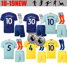 FREE Ship 2018 2019 adult JORGINHO HAZARD GIROUD soccer jersey Chelsea men KITS  18 19 FABREGAS WILLIAN KOVACIC MORATA KANTE football shirt a37fc6a91