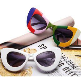 Wholesale Golden Pro - Women's Sunglasses Luxury Brand Design Big Size Full Frame Eyeglasses Classic Vintage lady's Sunglass Female Cat eyes Cateyes Glasses UV Pro