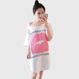 41443cc11c0 Wholesale Price Plus Size Short Sleeve Long T-shirt Dress 2018 Summer Dress  Maternity Clothes Pregnancy Shirt White Gray