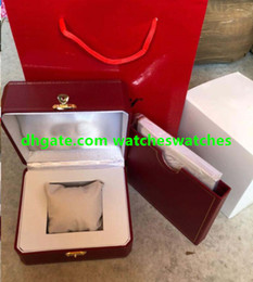 Wholesale authentic cards - Counter Original authentic New High Quality red Boxes brand Original Watch Box Watch packing with Brochures cards Boxes
