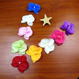 Accessori di capelli dei fiori di seta di cerimonia nuziale online-Simulazione artificiale Fiore di seta multi funzione decorazioni di nozze Fiori di orchidea falena per le neonate Accessori per capelli 0 4zb B