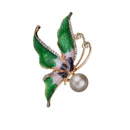 Melhor bijoux on-line-Pinos Broche de Esmalte Para As Mulheres Gota de Óleo Animal Borboleta Broches Jóias Moda Festa de Casamento Bijoux Melhor Presente