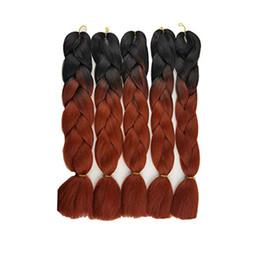 trama del pelo bohemio Rebajas 3 piezas de Kanekalon trenzas Extensiones sintéticas para el cabello Ombre Trenzas de la torsión Extensiones de cabello de alta temperatura giro de ganchillo