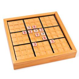 Mesas de rompecabezas online-Bloque de construcción de madera Sudoku Puzzle Niños Adultos Ladrillos de Pensamiento Número Tablero Juego de Mesa Juego Educativo de Aprendizaje de Juguete Regalos
