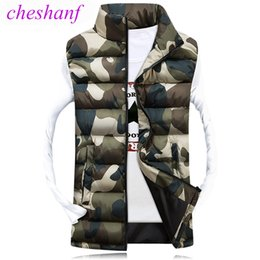 Wholesale Casual Male Camouflage Vest - Cheshanf Men's Camouflage Vest Winter Men Jacket Sleeveless Casual Male Female Camo Waistcoat Slim Fit Brand Clothing