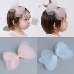1 PCS New Korean Angela Cute Baby Girls Hairpins Cartoon Net Yarn Bowknot Clip  Hair Clips Kids Children Accessories 2fae723c2582