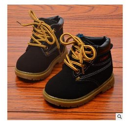 botas de invierno para niños pequeños. Rebajas Cómodos niños invierno moda infantil cuero botas de nieve para niñas niños Cálido Martin botas zapatos informal felpa niño bebés niño zapatos