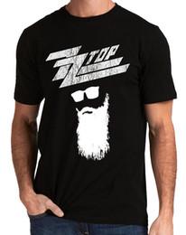 i disegni della maglietta della fascia Sconti ZZ Top Rock Band Logo Texas T-shirt da uomo Design Style New Fashion Maglietta a manica corta Casual Uomo Tees Girocollo Teenage