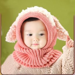Wholesale Woolen Baby Caps - 2017 New Design Winter Baby Kids Girls Boys Warm Woolen Coif Hood Scarf Caps Hats headscarf scarves lencos de pescoco echarpes
