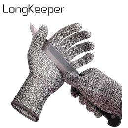 Deutschland Schnittfeste Handschuhe Anti-Schnitt-Atmungsaktive Arbeitshandschuhe Küchenstufe 5 Schutzgrad luva feminina Versorgung