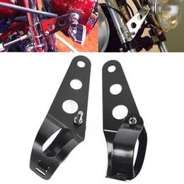Motosiklet dönüşüm far braketi retro dayanıklı far far braketi lambası tutucu nereden