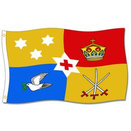 [Хороший флаг] королевский стандарт флагов Тонга 3x5ft 150x90cm 100% полиэстер,голова холста с Grommet металла,Использованный внутри помещения или Outdoors от