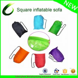 Wholesale Inflatable Air Sofa - Portable Inflatable laybag Air sofa lounge for indoor or outdoor waterproof Hangout lazy bag Inflatable Sleeping Lazybag Sofa