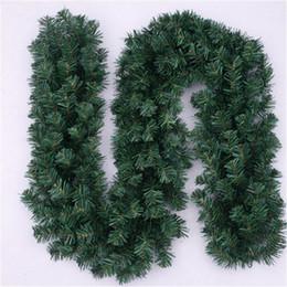 decorazioni del camino Sconti Creativo ghirlande verdi artificiali Eco Friendly PVC simulazione corona camino per albero di natale Capodanno decorazione della casa 12bf KK