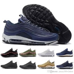 Wholesale Max Edition - New Maxes 97 Mens Low Running Shoes Cushion Men OG Silver Gold Anniversary Edition Sneakers Man Maxes Sport Athletic Sports Trainers Shoes