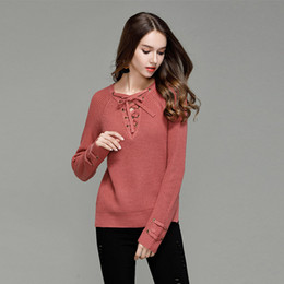 Wholesale Chinese Female Clothes - Woman Knitted Sweaters Autumn Winter Warm Fashion Sexy Female Sweater Five Colors, Hundreds Of Style Casual Clothing