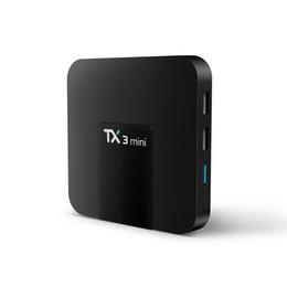 set tv box 3d Rebajas MXQ PRO Android tv box RK3329 Android 6.0 1G / 8G WiFi 4K Accesorios cargados 1080i / p sintonizadorAmlogic S905W TX3 Mini 2GB 16GB TV Box Quad-core A
