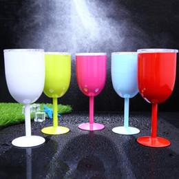 copas de vino de tallo Rebajas 2019 10 oz Cánula Tallo Vino copas de vino copas de vino Vacío taza aislada Acero inoxidable con tapa forma de huevo taza taza 9 color