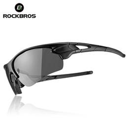 bicchieri da bicicletta rockbros Sconti ROCKBROS Cycling Outdoor Bike PolarizedPhotocromatic Occhiali Sport Bicicletta Occhiali da sole Occhiali Miopia Protezione telaio Occhiali