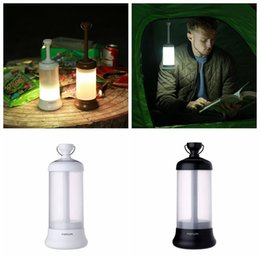 Wholesale Usb Camping Lantern - Outdoor LED USB Camping Light Lantern Rechargeable Portable Car Travel Emergency Emergency Night Light Lamp 3 Colors 30pcs OOA4814