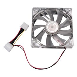 Wholesale Computer Power Supply Fans - Wholesale- GTFS-LED lights Computer power supply chassis CPU fan 4 Colors