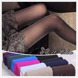 Wholesale Free Silk Tights - Wholesale-10 Colors 20D Women Ladies Sexy Tights Spring Autumn Bling Slim Leg High Elastic Silver Silk Glitter Stocking Free Size Q769