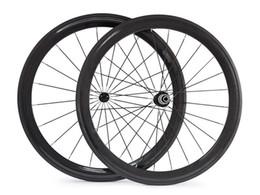 rodas de estrada de carbono china Desconto Rodas da bicicleta da estrada do carbono da profundidade da largura 38mm da largura de 1460g 23mm rodas de bicicleta da fibra do carbono de 50 60 700C