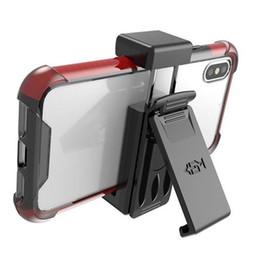 Estuche universal con clip para el cinturón para el soporte del teléfono celular para iPhone X XS 8 7 9 Plus Funda Samsung Galaxy S9 Plus Note 9 Paquete de venta al por menor desde fabricantes