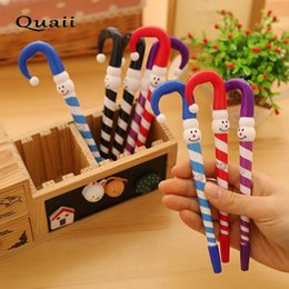 Зонтичные ручки онлайн-QUAII cute Cartoon umbrella funny expression ballpoint pen Clown Christmas snowman hat writing pens boligrafos lapiceros canetas