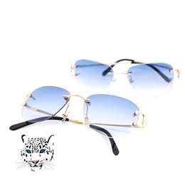 62db1ee40a0 Rimless Pilot Style Sunglasses for Men Women Colorful Choice for Summer  Luxury Carter Glasses Super Quality Wholesale Frames