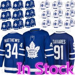 2019 topo de bordo Camisolas de Hóquei de Toronto Maple Leafs 34 Auston Matthews 16 Mitch Marner 25 James Van Riemsdyk 42 Tyler Bozak 44 Rielly de Morgan Top qualidade desconto topo de bordo