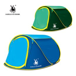 Wholesale One Deck - Gazella Outdoors 3-4 people, single deck automatic tent quick speed open, throw pop up family camping tent have top window