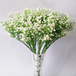Wholesale Baby Display - 50cm Gypsophila Artificial Flower Baby Breath Fake Silk Plants Wedding Party Decoration Real Touch Flowers Bouquets DIY Home Garden