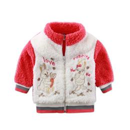 Mês jaqueta inverno on-line-2017 Novo Estilo de Inverno Do Bebê de Manga Longa Coral Velo Casaco Crianças Com Capuz Casacos Com Zíper Casaco Recém-nascido Meninos de 3 a 9 meses de Roupas