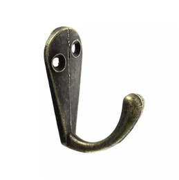 "Percheros antiguos online-Sola lengüeta Clothes Coat Robe Purse Hat Hook Hanger Bronce antiguo 3.4cm x 1.4cm (1 3/8 ""x 4/8"") 30PCs"