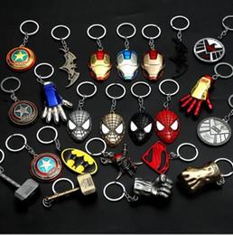 chef d'équipe Hot Sale Captain America Shield Porte-clés The Avengers Superman Superhero Batman Porte-clés Anneau Porte-clés Accessoires De Mode ? partir de fabricateur